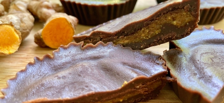 Chocolate Turmeric Butter Cups