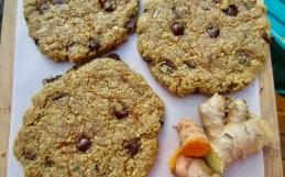 Ginger & Turmeric Chocolate Chip Cookies