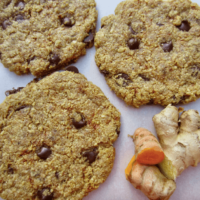 Ginger & Turmeric Chocolate Chip Cookies