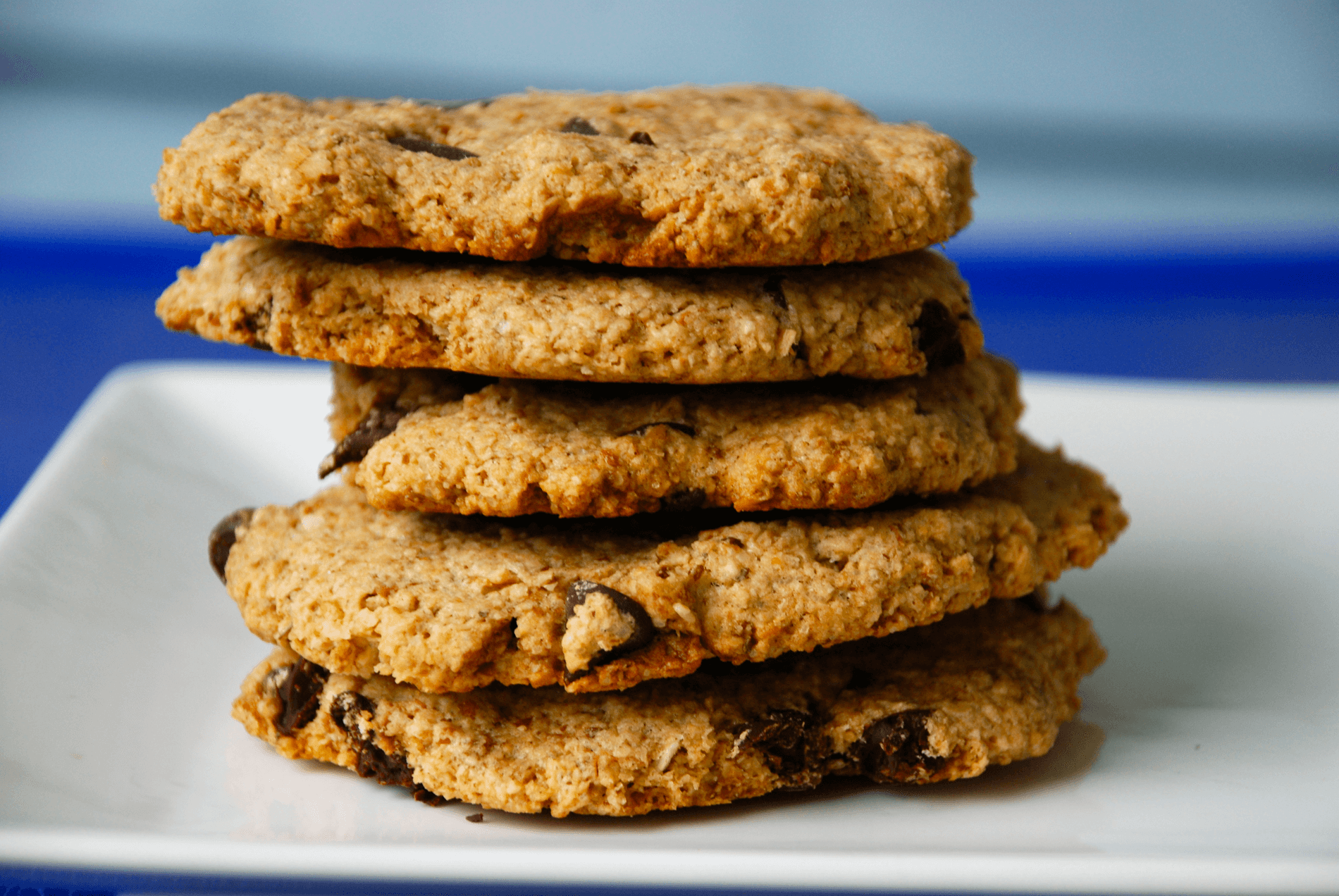 Toasted Coconut Tahini Chocolate Chip Cookies